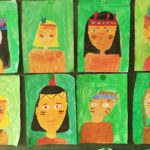 "Bildergalerie ""Indianer"" der Klasse 4b"